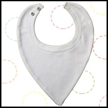 Unbranded Cotton Dribble Bibs (12 pack) - from 40p per unit