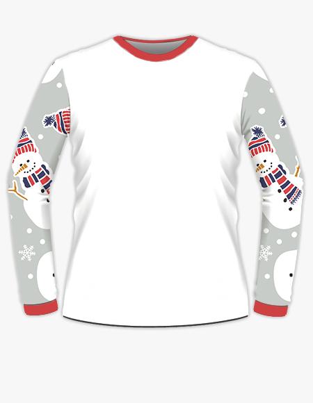 Snowman Printed Long Sleeve T-Shirt